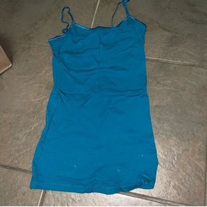 Ambiance Apparel blue tank top